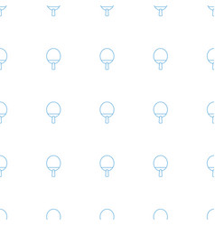 ping pong racket icon pattern seamless white vector image