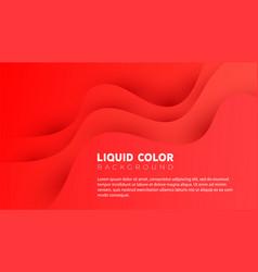 plastic liquid gradient waves sale banner template vector image