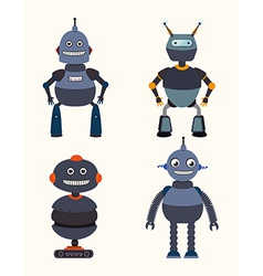 Robot design over white background vector image