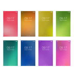 set bright color abstract hd wallpapers vector image