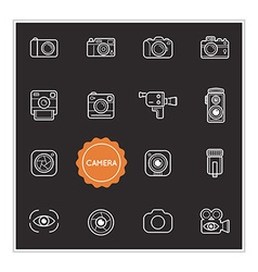 Set of Camera Photo Elements can be used as Logo vector