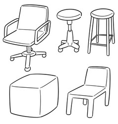 set of chair vector image