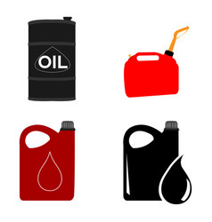 set of oil containers vector image