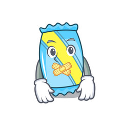 silent candy mascot cartoon style vector image