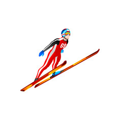 ski jump winter sports clipart vector image