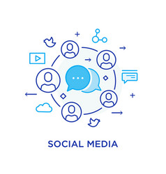 Social media blog virtual communication vector