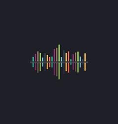 Soundwave computer symbol vector