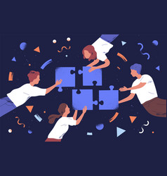 teamwork and team building flat vector image