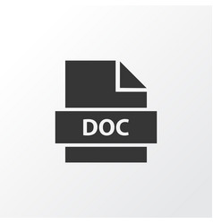 text icon symbol premium quality isolated doc vector image