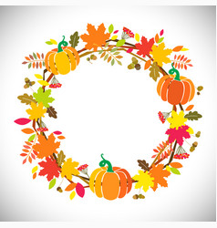 thanks giving wreath pumpkin vector image