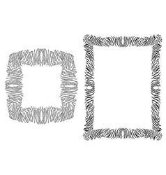 Tiger spots frame vector