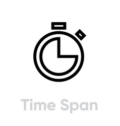 time span icon editable outline vector image