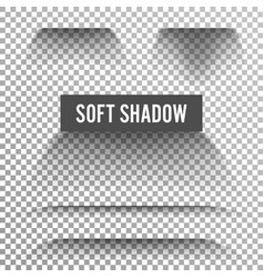 Transparent soft shadow transparent and vector