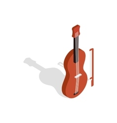 Violin icon in isometric 3d style vector image