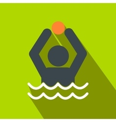 Water polo flat icon vector image