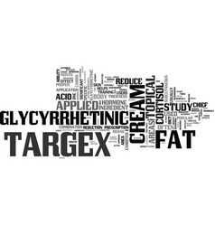 What is targex text word cloud concept vector