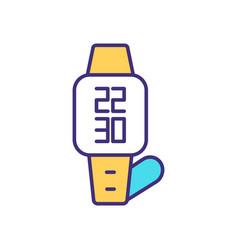 Wristwatch rgb color icon vector