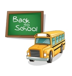 Yellow bus of back to school design vector