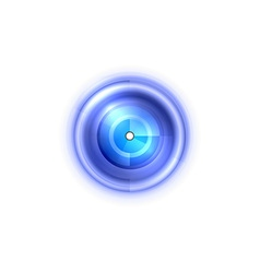 Abstract center point blue vector
