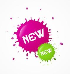 Green Pink New Splashes Blots vector image vector image