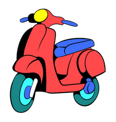 red scooter icon cartoon vector image