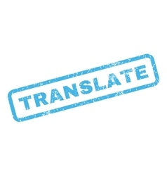 Translate Rubber Stamp vector image vector image
