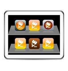 Pencil orange app icons vector image vector image