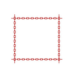 red chain in shape of square vector image vector image