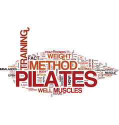 the pilates method text background word cloud vector image