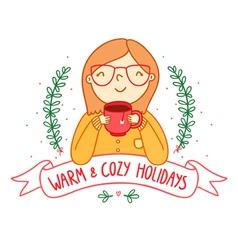 Warm and cozy vector image vector image