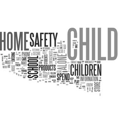 after school safety tips text word cloud concept vector image vector image