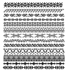 Border decoration elements pattern vector image vector image