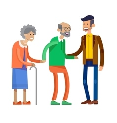 Detailed character people family vector image vector image