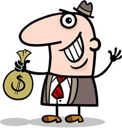 happy businessman cartoon vector image
