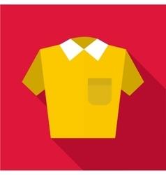 Polo shirt icon flat style vector image vector image
