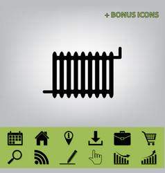 radiator sign black icon at gray vector image