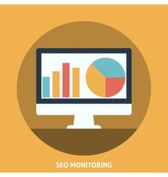 Seo Monitoring vector image