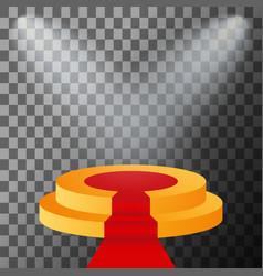 3d stage podium illuminated vector image vector image