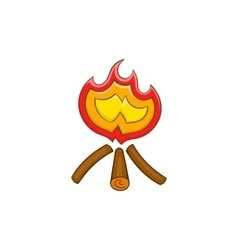 Campfire icon in cartoon style vector image vector image