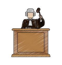 color blurred stripe of faceless judge in law vector image vector image
