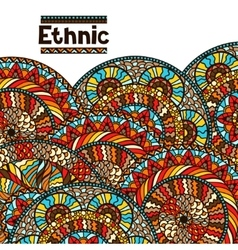 Ethnic background design with hand drawn ornament vector