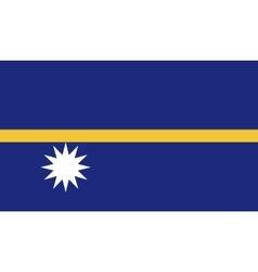 Nauru flag image vector image