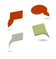 Set of four color 3d speech bubles vector image