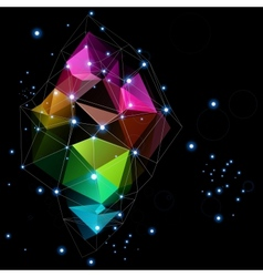 space technologies triangle abstract design vector image vector image