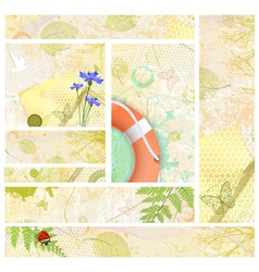Summer Web Banner Collection vector image vector image