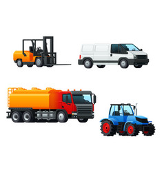 transportation 3d icon design with road transport vector image