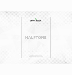 abstract halftone pattern of technology geometric vector image