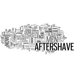 aftershave for men text word cloud concept vector image