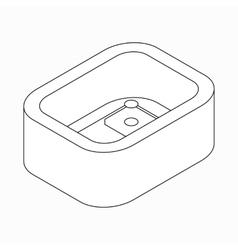 Baseball stadium icon isometric 3d style vector