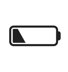 battery level indicator on white background vector image
